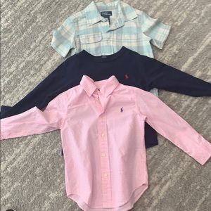 Lot of 3 boys polo shirts all 4T